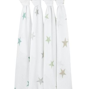 Swaddle, super star scout, 4-pack