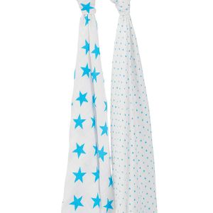"Swaddle, 2- Pack "" fluro blue """