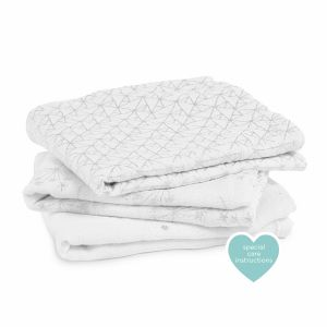 "Classic Musy Swaddle 3 - Pack "" metalllic silver deco """