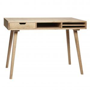 Schreibtisch mit Fächern, Eiche natur, HÜBSCH