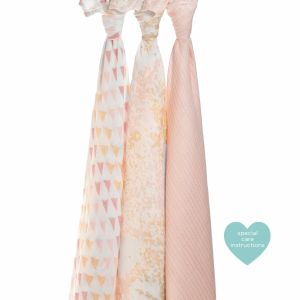 Swaddle 3- pack metallic primerose birch