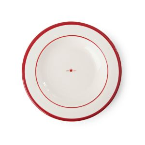Soup Plate, weiß/rot