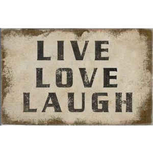 "Leinwand ""Live, Love, Lough"""