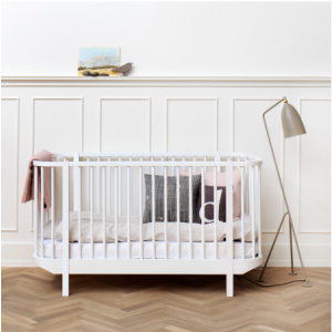 Oliver Baby- und Kinderbett, Wood-Collection, weiss