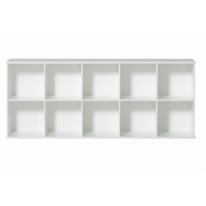 Wood Regal horizontal 5×2 zum Aufhängen (ohne Sockel & Kisten)