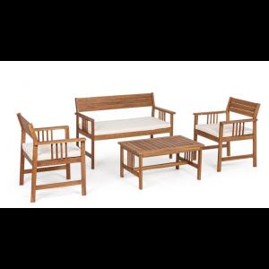 Set 4 Sitzgruppe Noemi Ekrü
