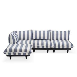 Paletti, Modulares Lounge System - stripes ocean blue