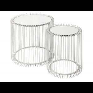 Beistelltisch Wire Silber 2/Set