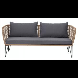 Mundo Sofa, Braun, Metall