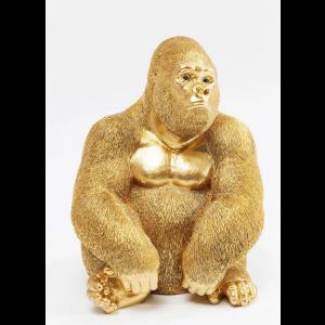 Deko Figur Gorilla Gold