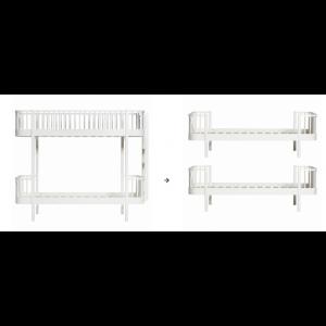 Original Etagenbett Leiter/Kopfteil zu 2 Einzelbetten, weiß