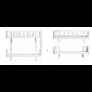 Original Etagenbett Leiter/Kopfteil zu 1 Einzelbett und 1 Bettsofa, weiß