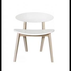 Wood Ping Pong Stuhl weiß/Eiche