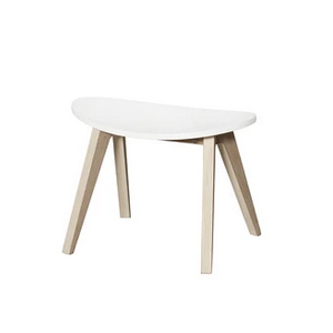 Wood Ping Pong Hocker weiß/Eiche