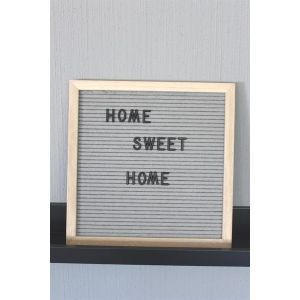 letter board grey