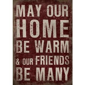 """Leinwand """"MAY OUR HOME"""""""