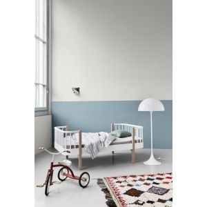 Oliver Junior- und Kinderbett, Wood-Collection, Eiche und weiss