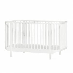 Wood Baby- und Kinderbett, weiss